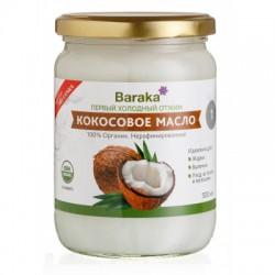 Кокосовое масло Барака Вирджин, нерафинированное, 500 мл