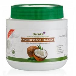 Кокосовое масло Барака вирджин нерафинированное органик, 500 мл