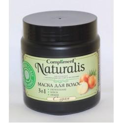 Compliment Naturalis маска для волос с луком (укрепление-блеск-объём), 500 мл