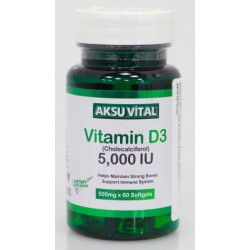 Витамин D3 5000 IU Shiffa Home Aksu Vital, 60 капс