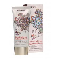 FarmStay All-in one Snail Sun BB Cream Многофункциональный BB крем с экстрактом улитки SPF50+/PA+++
