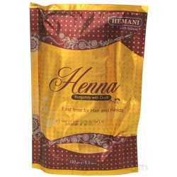 Хна для волос Hemani бургунди с удом (150 г)