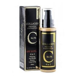 Тональный крем «Privia U Collagen Premium Foundation 86.5% SPF 30 PA++ 4 in 1» (100 мл)