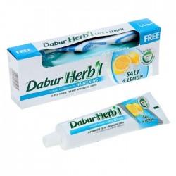 Зубная паста+зубная щётка Dabur Salt & Lemon Whitening (паста с лимоном и солью) (150 г)